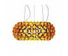 Foscarini lampada a sospensione CABOCHE MEDIA a LED (Giallo oro con dimmer - Vetro soffiato e metallo cromato)