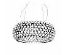 Foscarini lampada a sospensione CABOCHE GRANDE a LED (Trasparente con dimmer - Vetro soffiato e metallo cromato)