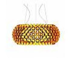 Foscarini lampada a sospensione CABOCHE GRANDE a LED (Giallo oro con dimmer - Vetro soffiato e metallo cromato)