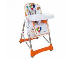 Seggiolone Per Bambini 6 Altezze Joycare Delizia Arancio...