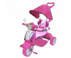 Triciclo A Spinta Per Bambini Seggiolino Reversibile Hornet Rosa...