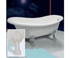 Vasca Da Bagno Tradizionale Ellittica 170x80 Cm Piedi Bianchi Made...