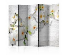 Paravento 5 Pannelli - The Urban Orchid Ii 225x172cm Erroi...