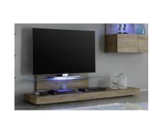 Mobile Tv Mensola In Vetro 51x200x51cm Tft Cube Miele...