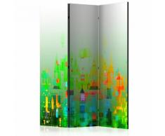 Paravento 3 Pannelli - Abstract City 135x172cm Erroi...