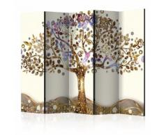 Paravento 5 Pannelli - Golden Tree Ii 225x172cm Erroi...