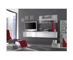 Parete Attrezzata Mobili Salotto Mobile Tv E Doppia Mensola 210x36...