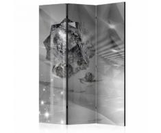 Paravento 3 Pannelli - Abstract Greyness 135x172cm Erroi...