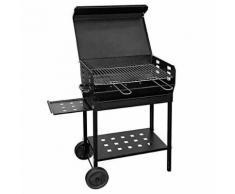Barbecue A Carbone Carbonella 60x40cm Con Griglia Regolabile Su 3 ...