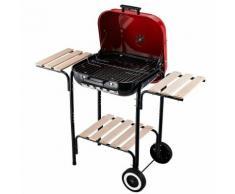 Barbecue A Carbone Carbonella Con Coperchio E Ruote In Acciaio Ros...
