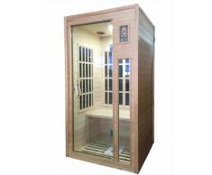 Sauna Finlandese Ad Infrarossi 2 Posti In Hemlock Canadese H188x10...