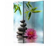 Paravento 3 Pannelli - Water Lily And Zen Stones 135x172cm Erroi...