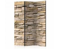 Paravento 3 Pannelli - Decorative Stone 135x172cm Erroi...