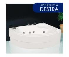 Vasca Da Bagno Idromassaggio Angolare 150x100 Cm Basic Appoggio A ...
