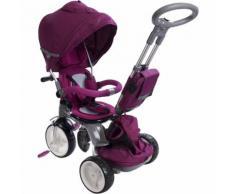 Triciclo Passeggino Seggiolino Reversibile 6in1 Happy Kids Viola...