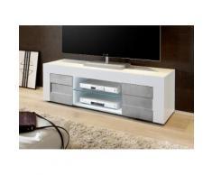Mobile Tv 2 Porte 2 Nicchie Con Ripiano 138x42x44cm Tft Build Bia...