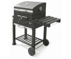 Barbecue A Carbone Con Griglia In Acciaio E Coperchio Soriani Sun-...