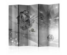Paravento 5 Pannelli - Abstract Greyness Ii 225x172cm Erroi...