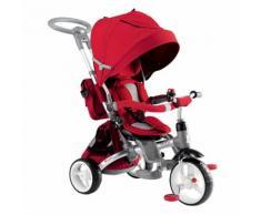 Triciclo Passeggino Seggiolino Reversibile 6in1 Happy Kids Rosso...