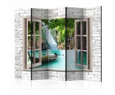 Paravento 5 Pannelli - Thai Paradise Ii 225x172cm Erroi...