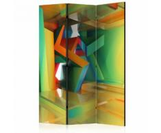 Paravento 3 Pannelli - Colourful Space 135x172cm Erroi...