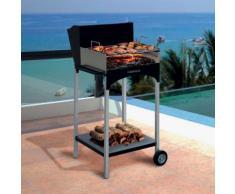 Barbecue A Legna Con Griglia In Acciaio Famur Bk 6 Eco...