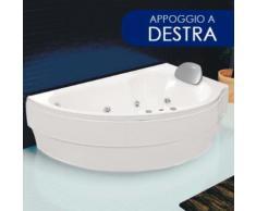 Vasca Da Bagno Idromassaggio Angolare 160x85 Cm Basic Appoggio A D...
