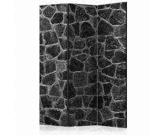Paravento 3 Pannelli - Black Stones 135x172cm Erroi...