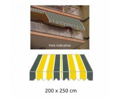 Tenda Da Sole A Caduta 200x250cm Tessuto In Poliestere Disegno P30...