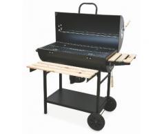 Barbecue A Carbone Con Griglia In Metallo E Legno Con Coperchio So...