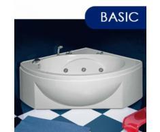 Vasca Da Bagno Idromassaggio Angolare 130x130 Cm Basic Made In Ita...