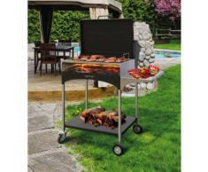 Barbecue A Legna Con Griglia In Acciaio Famur Bk 8 Elite...