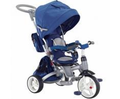 Triciclo Passeggino Seggiolino Reversibile 6in1 Happy Kids Blu...
