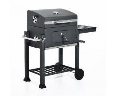 Barbecue A Carbone Carbonella Con Coperchio 115x56x108 Cm Miozzi...