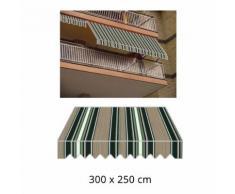 Tenda Da Sole A Caduta 300x250cm Tessuto In Poliestere Disegno P60...