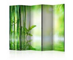 Paravento 5 Pannelli - Green Bamboo Ii 225x172cm Erroi...