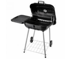 Barbecue A Carbone Carbonella Con 2 Griglie Ripiano Laterale E Cop...