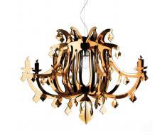 SLamP Lampada a sospensione di design Ginetta, oro