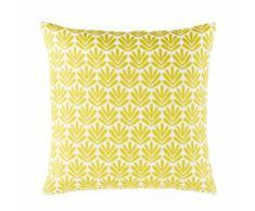 Cuscino da esterno a motivi grafici gialli, 45x45