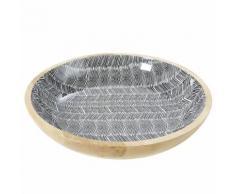 Svuotatasche in legno massello di mango motivi grafici