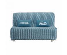 Fodera per divano BZ blu anatra con stampe a stelle Elliot