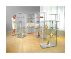 office akktiv Vetrina dal design elegante, con armadietto, alt. x largh. x prof. 1800 x 520 x 520 mm