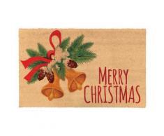 zerbino natalizio 40 x 60 : campanelle sfondo cocco