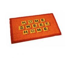 1x Zerbino in cocco colorato / Home arancio