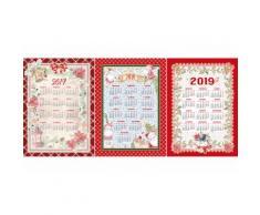 : set 12 strofinacci calendario