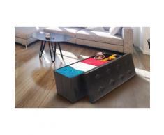 :Panca portaoggetti con 8 bottoni 100 x 38 x 38 cm /Nero