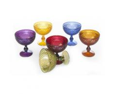 : Set 6 coppe Diamond Multicolor