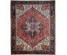Nain Trading Tappeto Fatto A Mano Heriz Antico 341x276 Grigio Scuro/Beige (Lana, Persia/Iran)