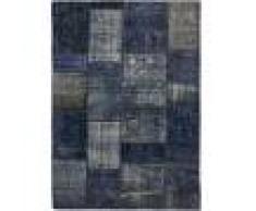 Nain Trading Tappeto Patchwork 202x143 Moderna/Design Grigio Scuro/Blu Scuro (Annodato a mano, Lana, Persia/Iran)