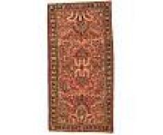 Nain Trading Tappeto Orientale Saruk Antico 150x75 Corridore Marrone/Arancione (Persia/Iran, Lana, Annodato a mano)